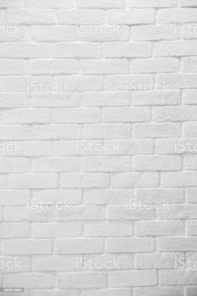 Abstract geometric white texture brick on the wall, white brick pattern on mapping object 3D, Simple clean white background texture. stock photo