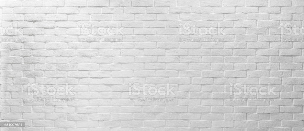Abstract geometric white texture brick on the wall, white brick pattern on mapping object 3D, Simple clean white background texture. Vector interior wall panel. Panorama texture ultra high resolution. stock photo
