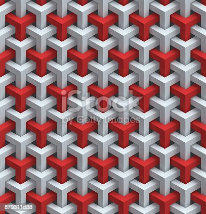 869478294 istock photo abstract geometrical seamless 3d background 879311538