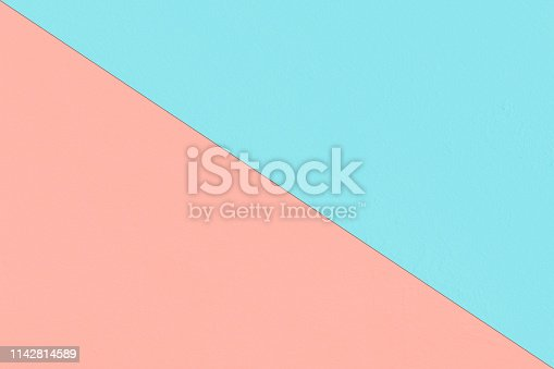 857920492istockphoto Abstract geometricpaper background in soft pastel pink and blue colors 1142814589