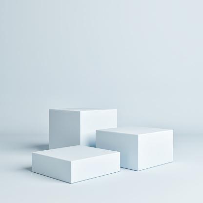 istock Abstract geometry blue concept winner podium 1153738251