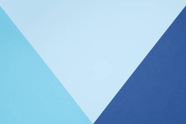 plano de geometría abstracta pone fondo de minimalismo de textura de papel de colores pastel azul y turquesa. plantilla formas y líneas geométrica mínimas. - geometría fotografías e imágenes de stock