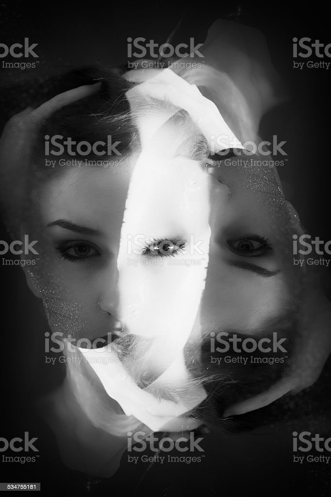 Abstract Girl figure stock photo