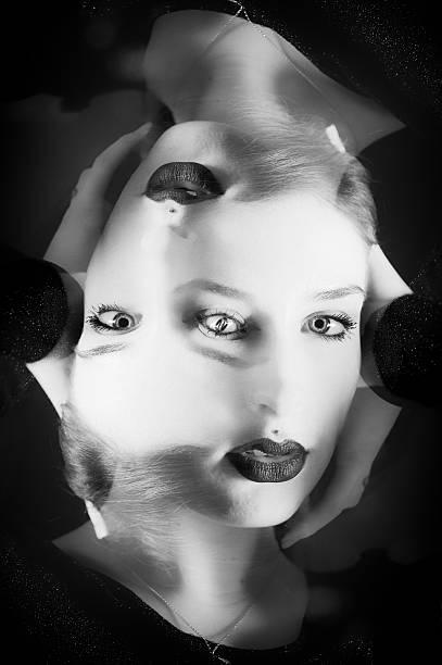 Abstract Girl figure stock photo