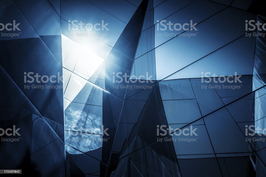 Abstract Glass Architecture ceiling royalty-free stock photo