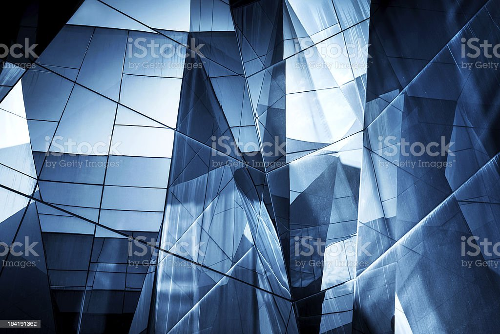 Abstract Glass Architecture stock photo