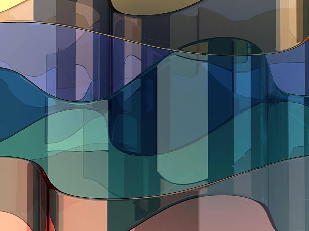abstrakte glas hintergrund - farbiges glas stock-fotos und bilder