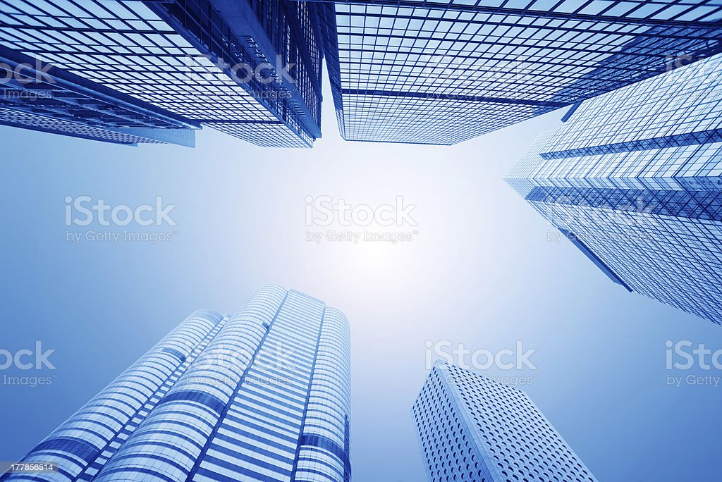 abstract glass skyscrapers royalty-free stock photo