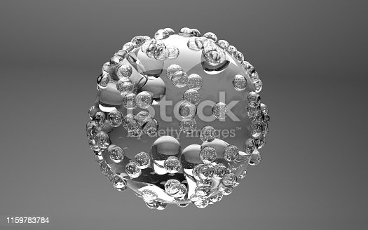 istock abstract glass sphere, 3d illustration 1159783784