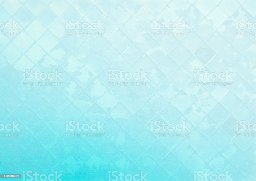 Abstract glass wall pattern on blue background stock photo