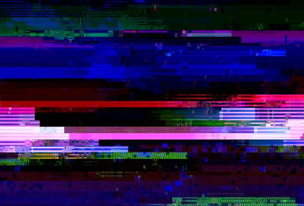 abstract glitch background - televisão estática imagens e fotografias de stock