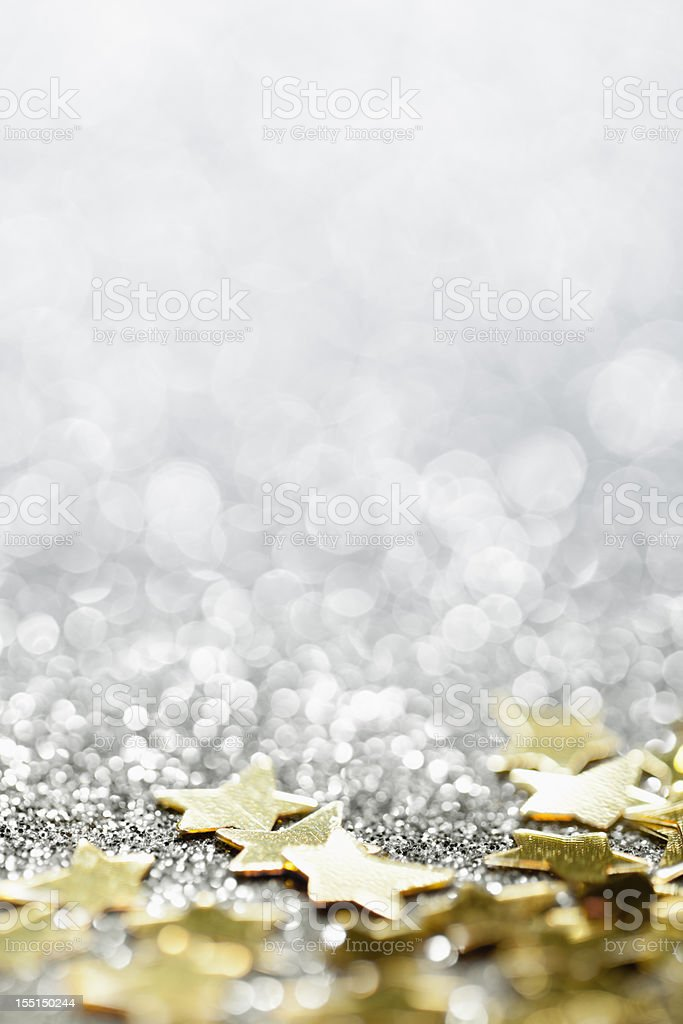 Abstrait arrière-plan brillant avec des étoiles-fête de Noël étoiles - Photo