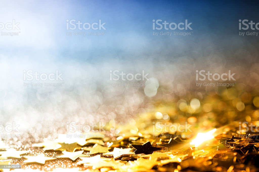 Abstract Glitter Background with Stars - Christmas Party Star royalty-free stock photo