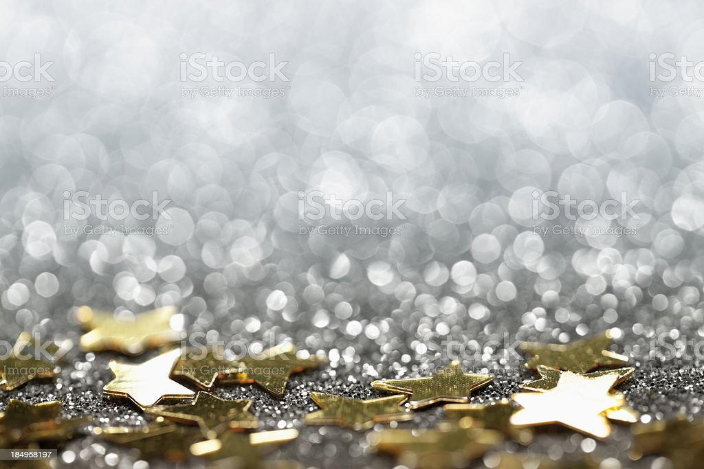 Abstract Glitter Background with Stars - Christmas Party Star stock photo