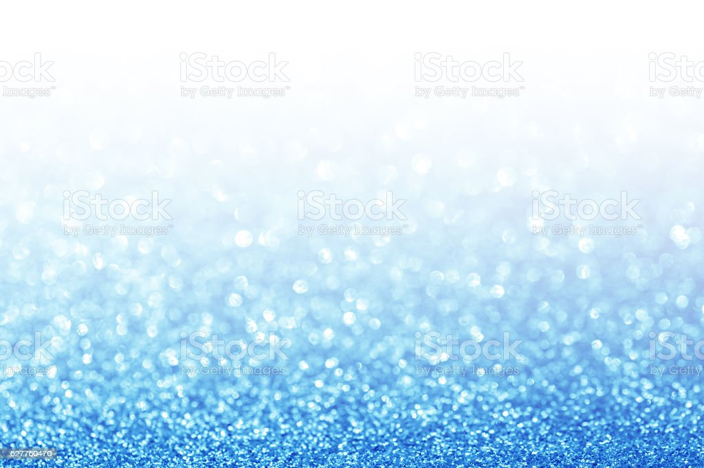 Abstract glitter blue background stock photo