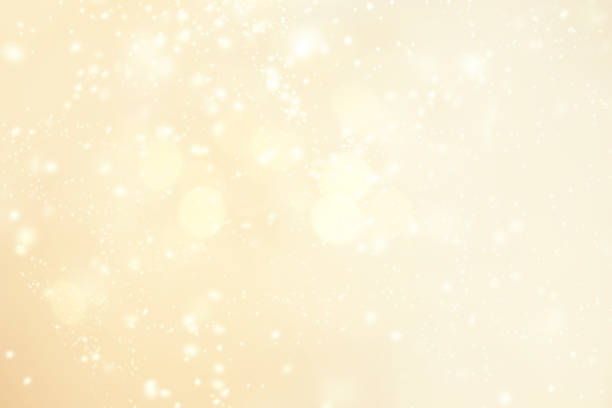 abstract glittering christmas background  background  with snowflakes, light, stars. merry christmas card. - luce gialla foto e immagini stock