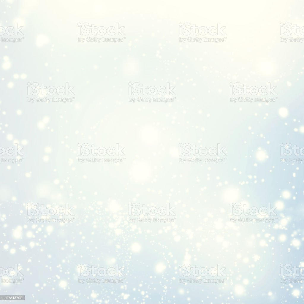 Abstract glittering stars on bokeh background.   Festive blue an stock photo