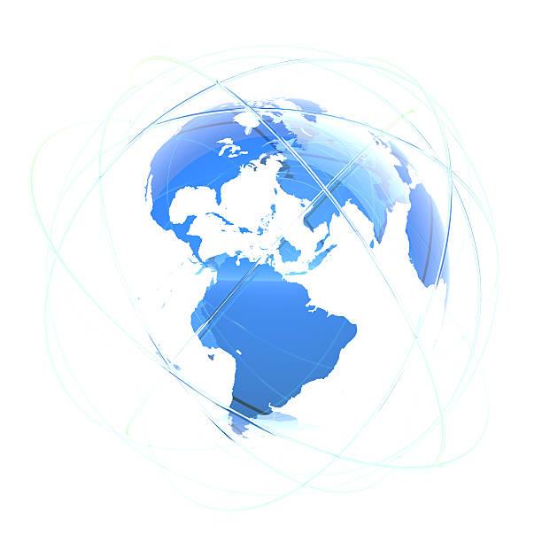 Abstract globe stock photo
