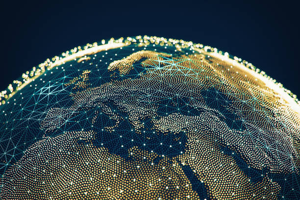 Abstract Globe With Networks - Europa – Foto