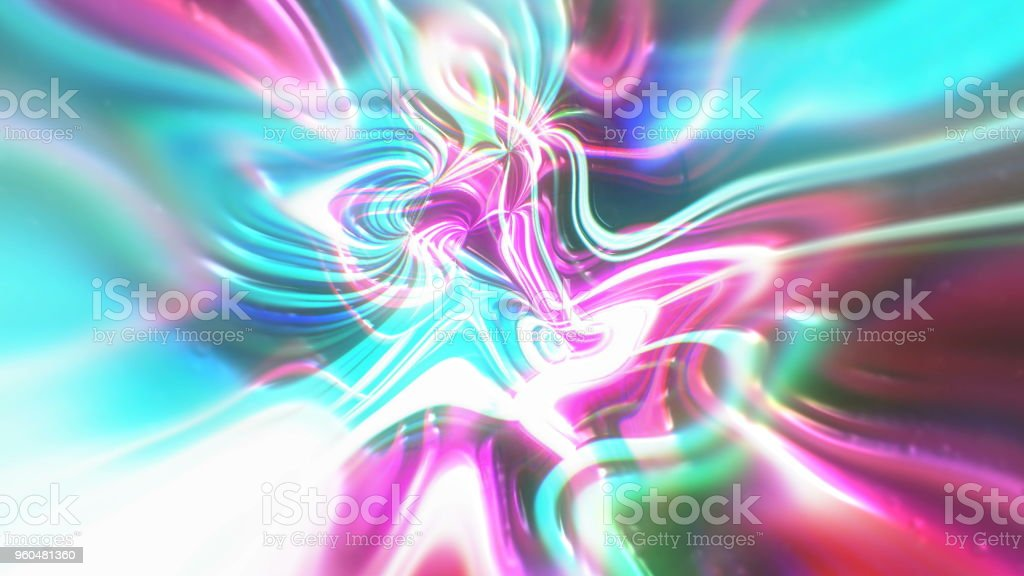 Abstract glow energy background with visual illusion and wave effects, 3d render computer generating stock photo