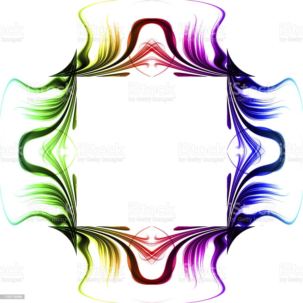 Abstract glow frame background with colorful royalty-free stock photo