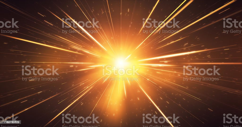 Abstract Glowing Gold Streaks Background - Glitter, Sparkler, Christmas, High Speed, Light Speed Abstract background image, digitally generated. Perfectly usable for topics like Christmas, New Year, awards and anniversaries or as a depiction of high speed motion. Abstract Stock Photo