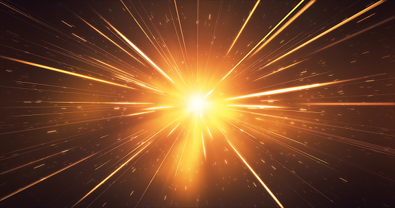 Abstract Glowing Gold Streaks Background Glitter Sparkler Christmas High Speed Light Speed Stock Photo - Download Image Now