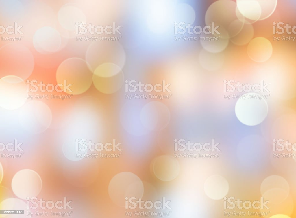 Abstract glowing holiday bokeh blur background. stock photo
