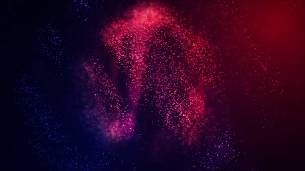 Abstract Glowing Particles - foto stock