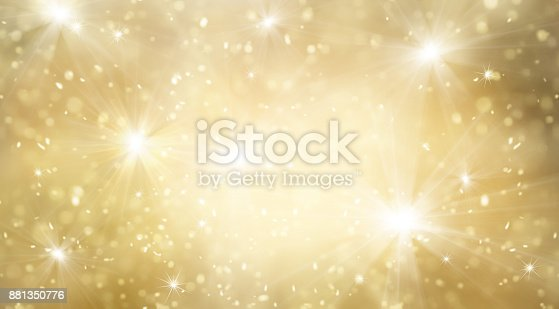 istock Abstract gold and bright glitter for new year background 881350776
