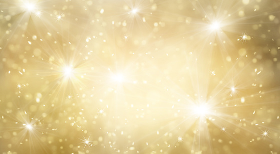 Abstract gold and bright glitter for new year background