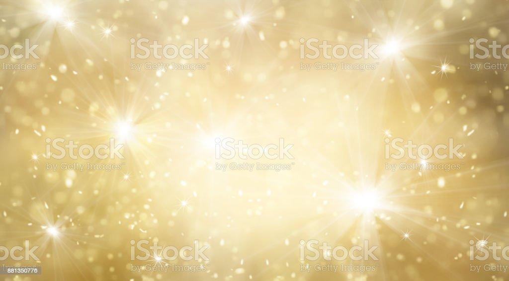 抽象金色和明亮的閃光為新年背景圖像檔