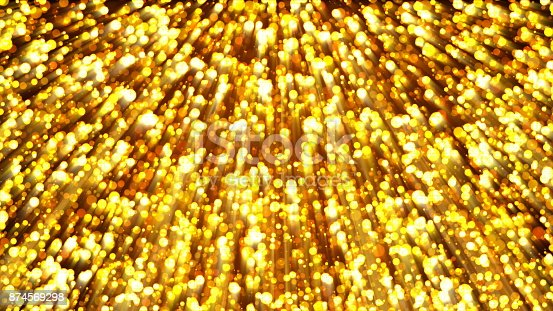 istock Abstract gold background. Digital backdrop 874569298