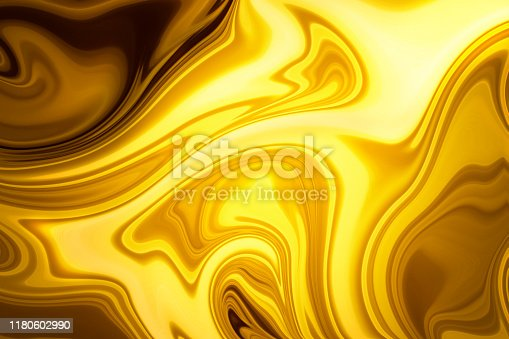 Abstract background - molten gold or oil or silk texture