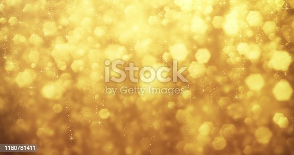 istock Abstract Gold Glitter Background - Christmas, Award, Luxury, First Place 1180781411