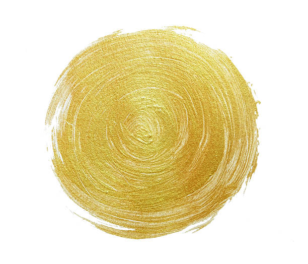 Abstract gold glittering textured paint on white paper - foto de stock