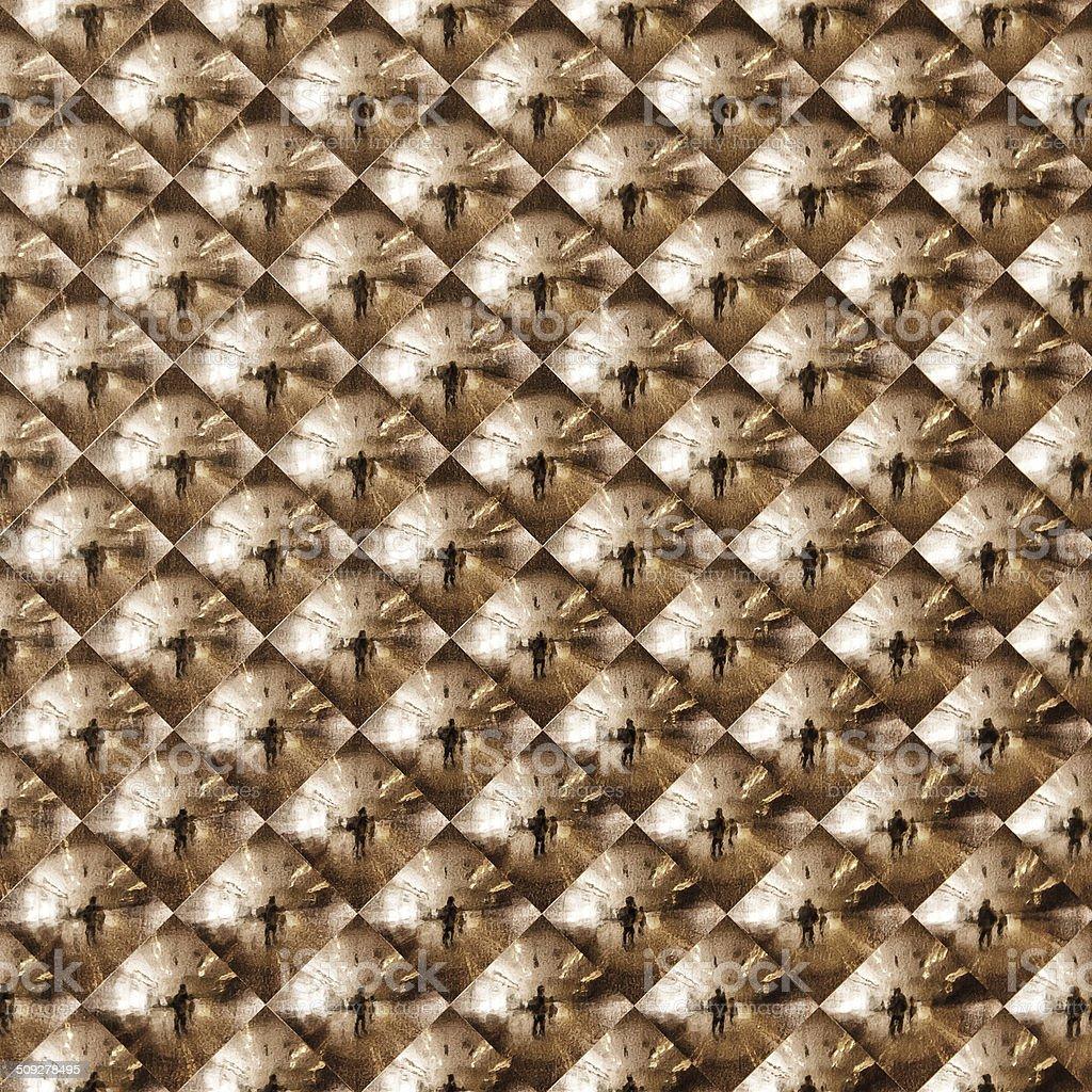 Abstract gold mosaic royalty-free stock photo