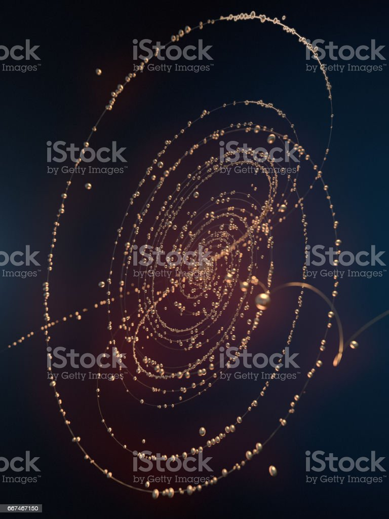 Abstract gold shiny shapes 3d rendering stock photo