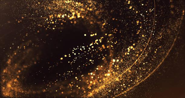abstract gold swirl - wakacje / boże narodzenie tło - migoczący zdjęcia i obrazy z banku zdjęć