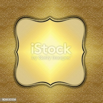 istock Abstract golden corporate creative background 909530338