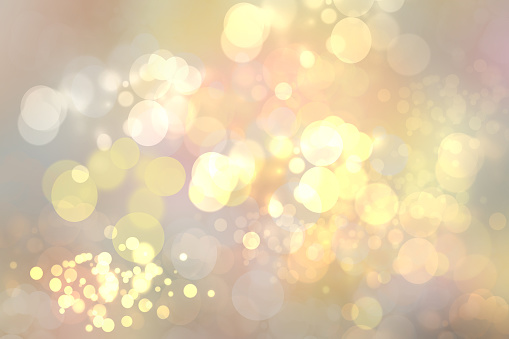 Abstract Golden Festive Bokeh Background With Glitter Sparkle Blurred Circles And Christmas Lights Concept Christmas Happy New Year And Other Holidays - zdjęcia stockowe i więcej obrazów Abstrakcja