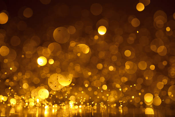 Abstract golden glitter background - Christmas Party dynamic stock photo