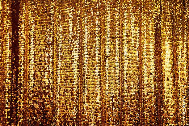 ゴールドのグリッター抽象的な背景 - glitter curtain ストックフォトと画像