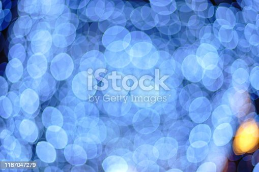 Colorful background blur bokeh light
