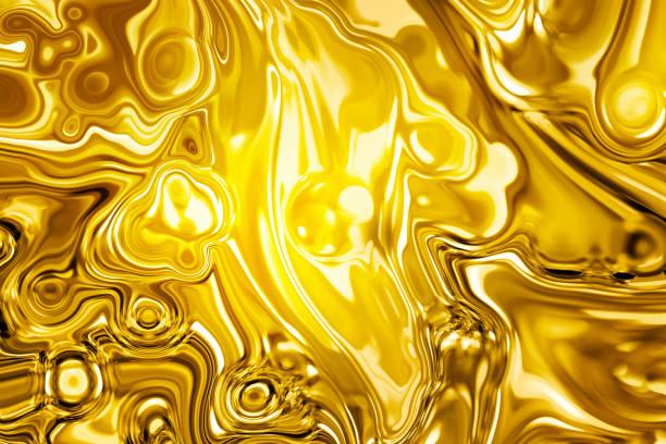 Abstract golden liquid background stock photo