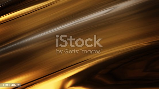 621262396 istock photo Abstract golden liquid smooth background with waves luxury. 3d illustration 1136940782