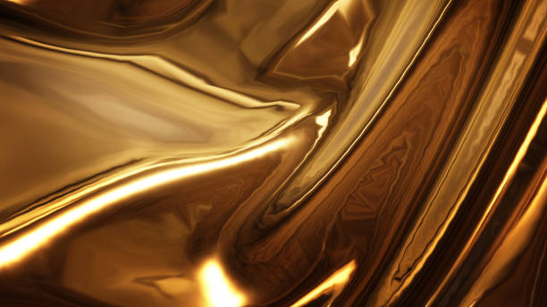 Abstract golden liquid smooth background with waves luxury. 3d illustration Abstract golden liquid smooth background with waves luxury. 3d illustration liquid stock pictures, royalty-free photos & images