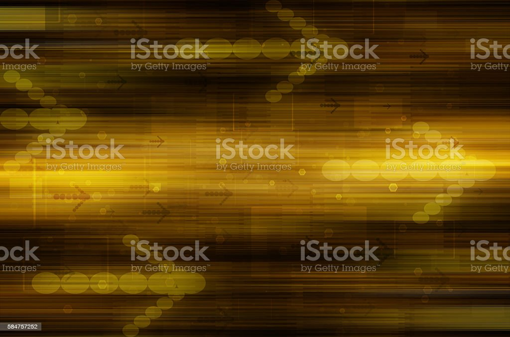 Abstract golden technical background. stock photo