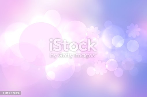 524700656 istock photo Abstract gradient of pink blue pastel light background texture with glowing circular bokeh lights. Beautiful colorful spring or summer backdrop. 1133029980