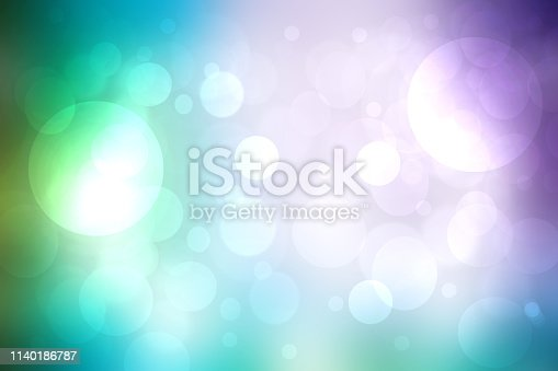 524700656 istock photo Abstract gradient of pink blue pastel light background texture with glowing circular bokeh lights. Beautiful colorful spring or summer backdrop. 1140186787